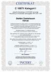 INCERT Certifikat C18871 kategori I
